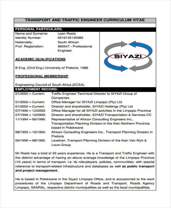 Transportation Resume  Transportation Resume
