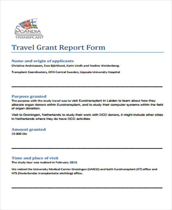 Grant Report Templates  Free Word Pdf Format Download  Free