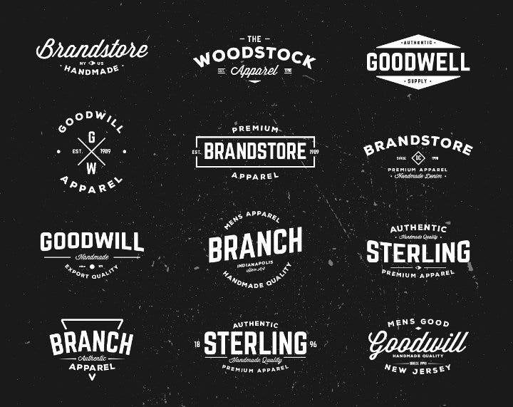 typographic-vintage-badges