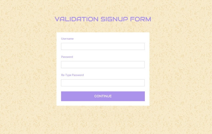validation-signup-form-template