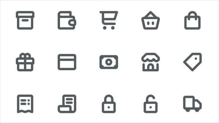 vector-e-commerce-line-icons