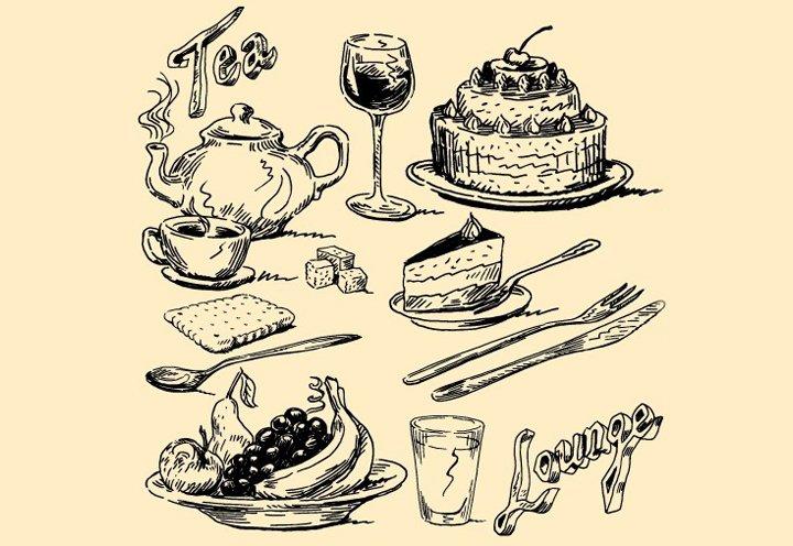 vintage food illustrations1