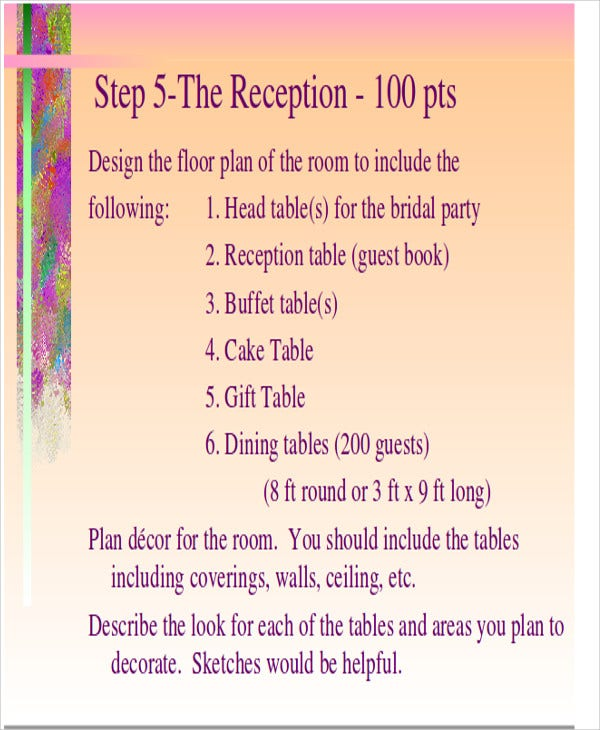 wedding reception powerpoint