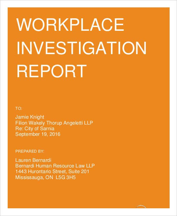 Workplace Report