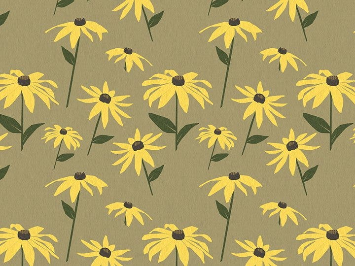 yellow-flower-pattern