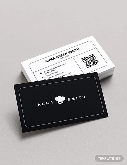 creative chef business card
