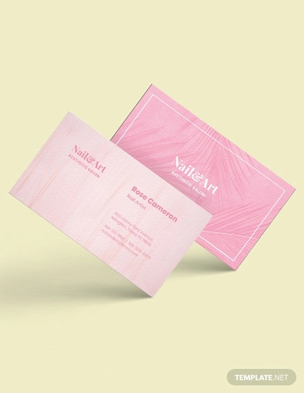 nail artist business card