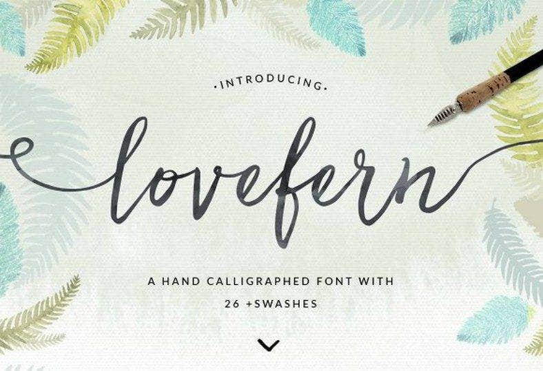 Lovefern Calligraphy Font