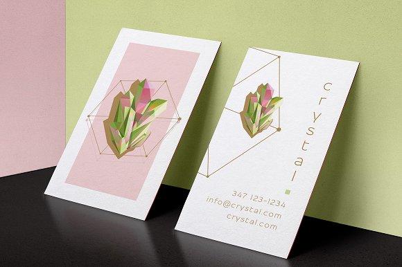 Crystal Business Card Desin