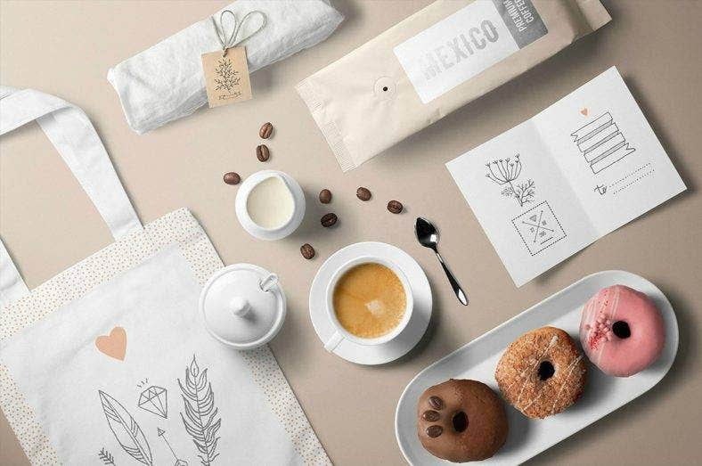 Cafe Visual Identity Mockup