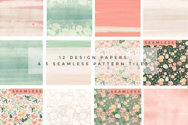 Pastel Watercolor Patterns