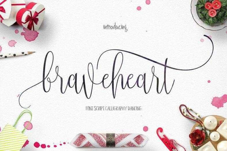 Braveheart Calligraphy Font