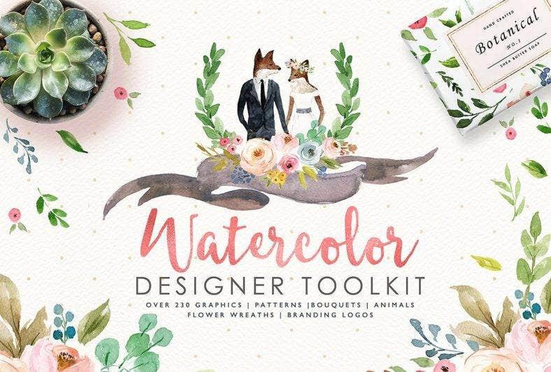 Watercolor Designer Tool Kit