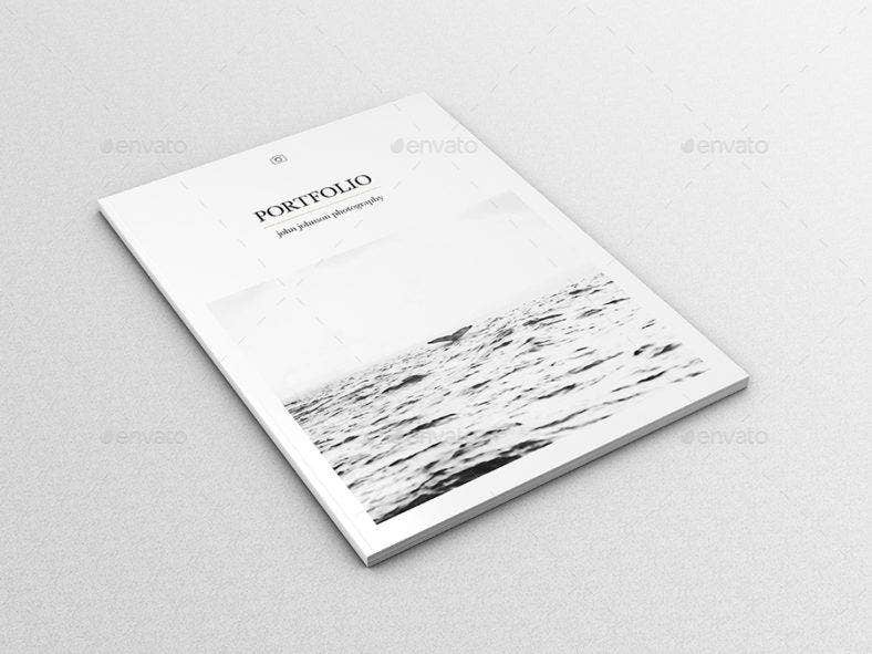 Black and White Portfolio Template