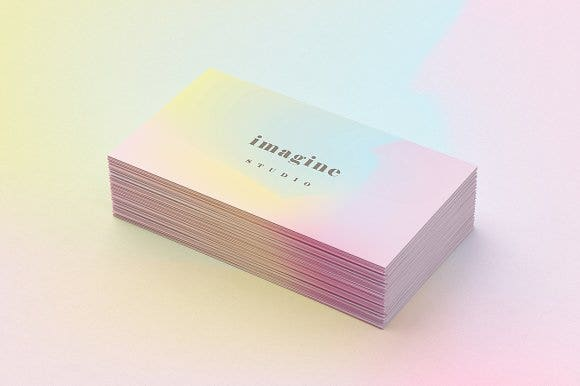 18 best visual identity designs free premium templates business card design holographic business card reheart Images