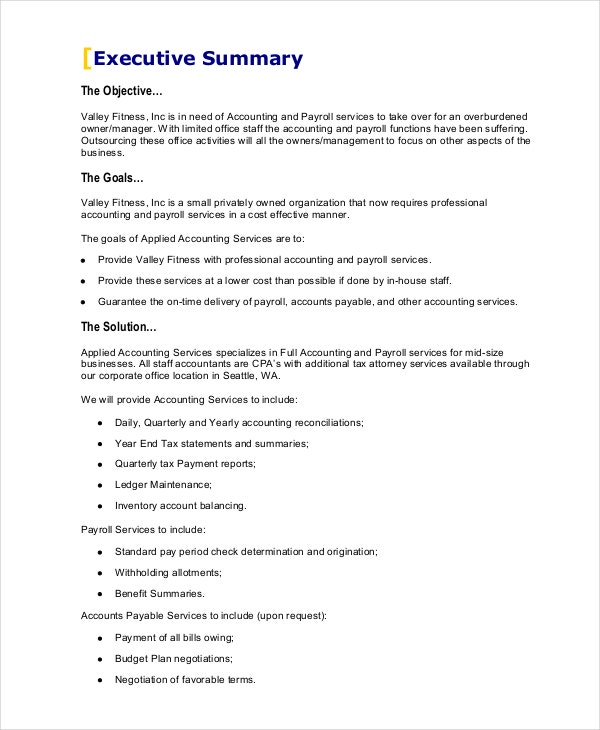 Business Proposals Business Proposal Templates Examples  Sample