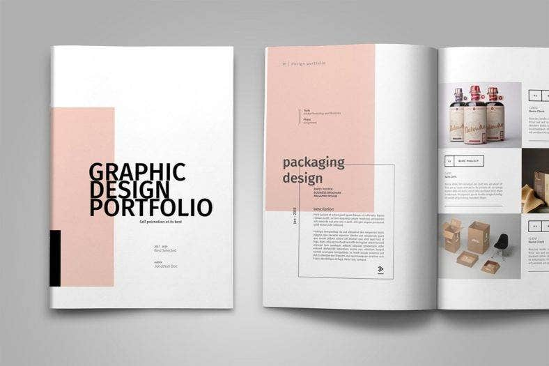 Magazine portfolio templates free premium templates for Graphic designer portfolio template free download