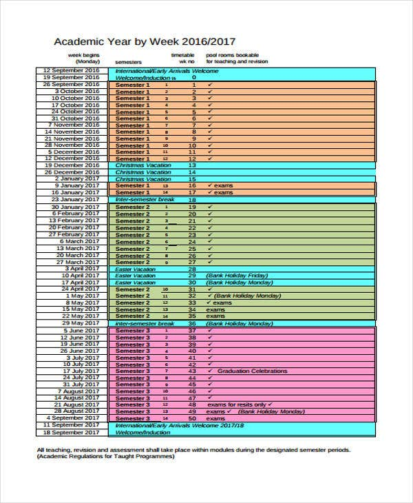 Assessment Calendar Template Performance Assessment Report Template