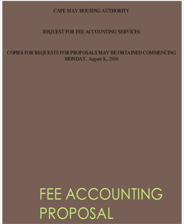 8+ Accounting Proposal Templates - Free Sample, Example Format ...
