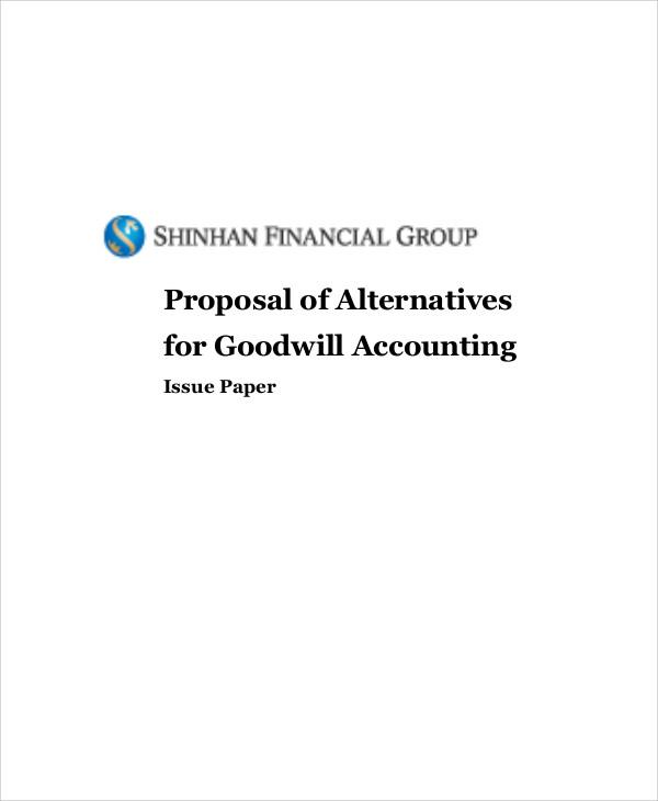 accounting proposal