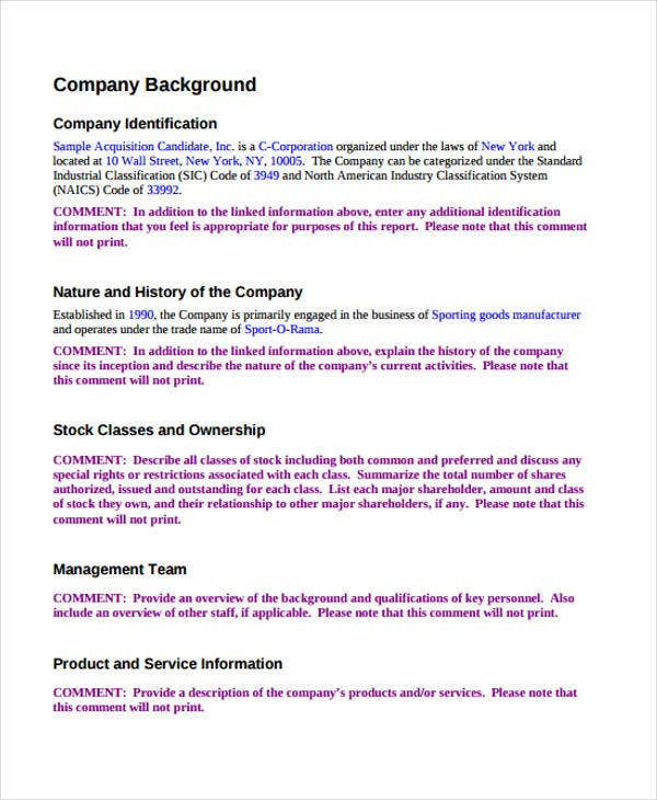 10 Company Proposal Templates - Free Sample, Example Format