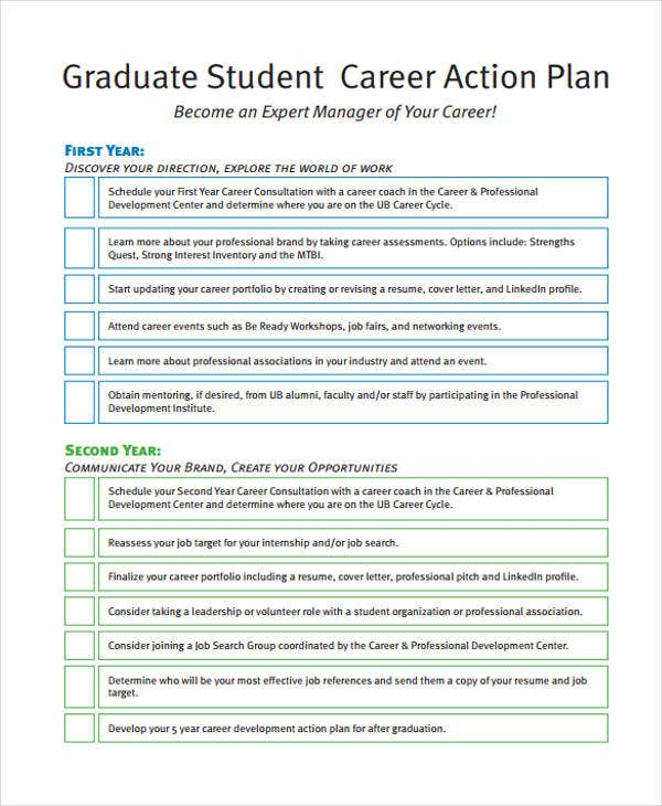 8 Student Action Plan Templates - Free Sample, Example Format