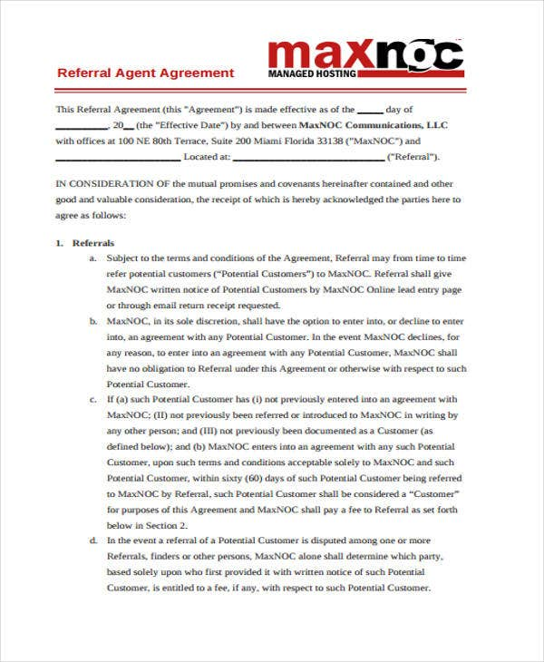 agent agreement1