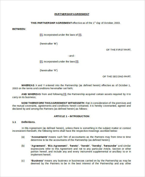 agreement contract1