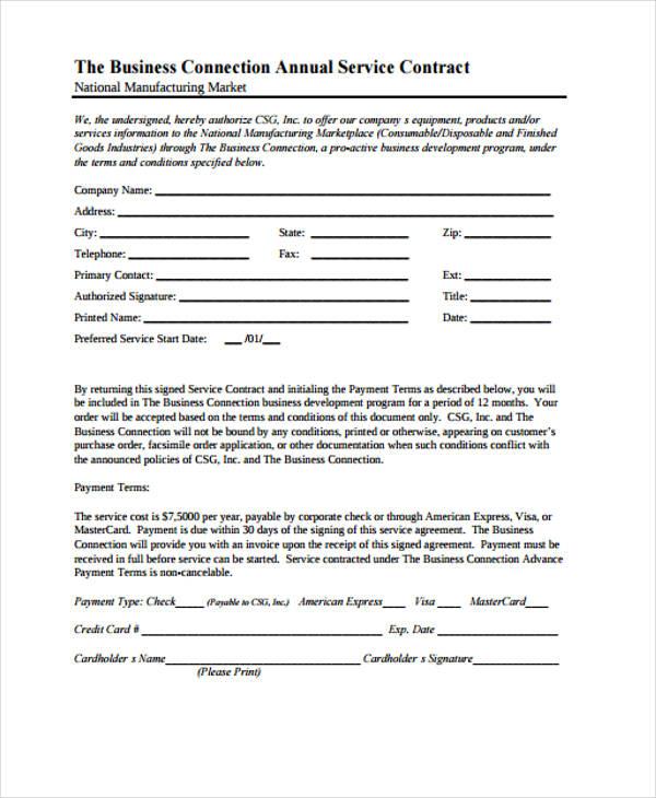 42 Sample Contract Templates Free Premium Templates