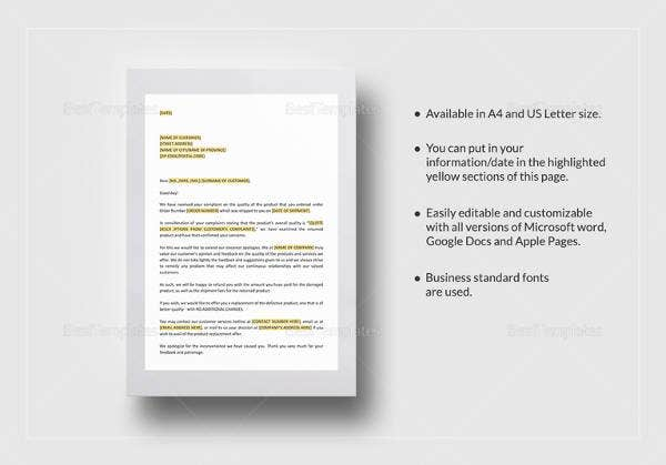 apology-letter-dissatisifed-with-quality-of-product-template