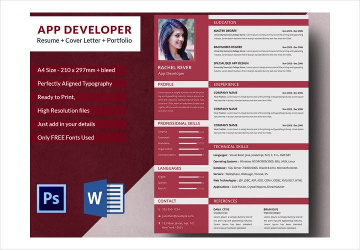 App Developer Resume Template