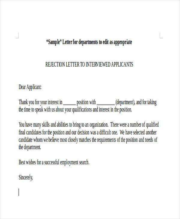 applicant rejection letter1