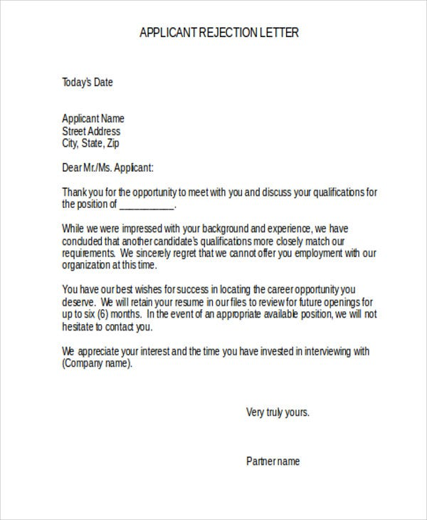 applicant rejection1