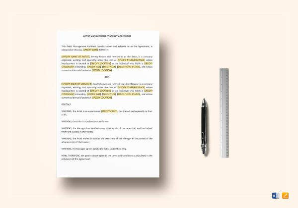 artist-management-contract-template