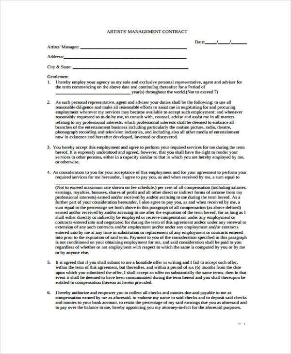 7+ Management Contract Templates - Free Sample, Example Format