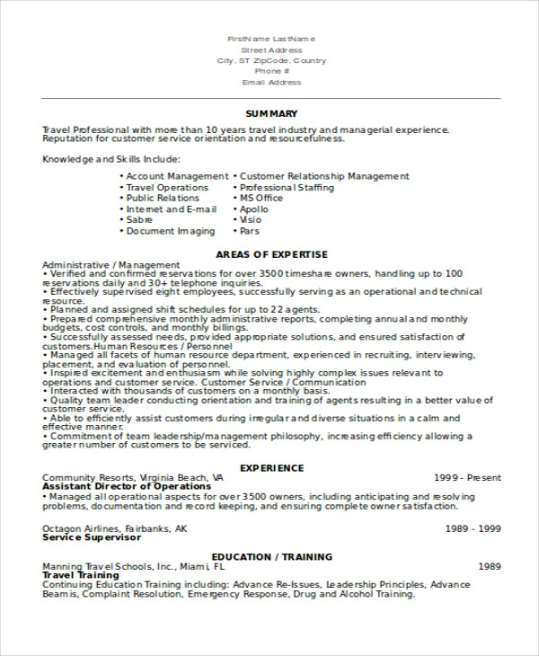 Director Of Operations Resume  Free Sample Exampleformat