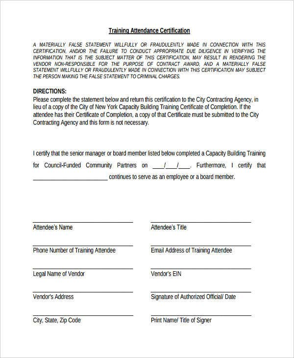 certificate of attendance seminar template - certificate formats templates 38 free word excel pdf