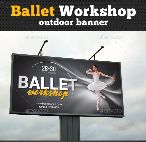 ballet workshop outdoor banner