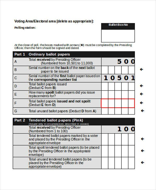 General Election Ballot Paper Template Excellent Electrical Wiring