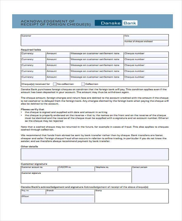 Transfer Receipt Templates 9 Free Word PDF Format Download