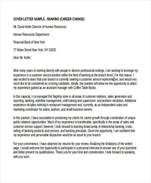 Cover letter for bank job examples altavistaventures Choice Image