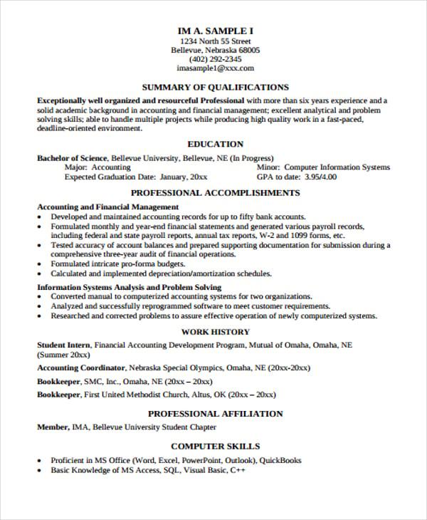 Functional Curriculum Vitae Templates  Pdf Doc  Free