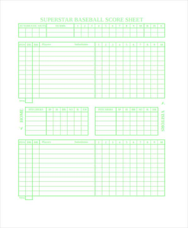 9+ Score Sheet Templates - Free Samples, Examples Format Download