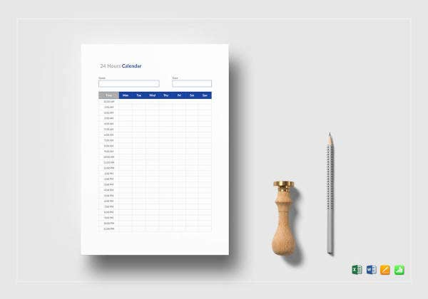 basic-24-hours-calendar-template