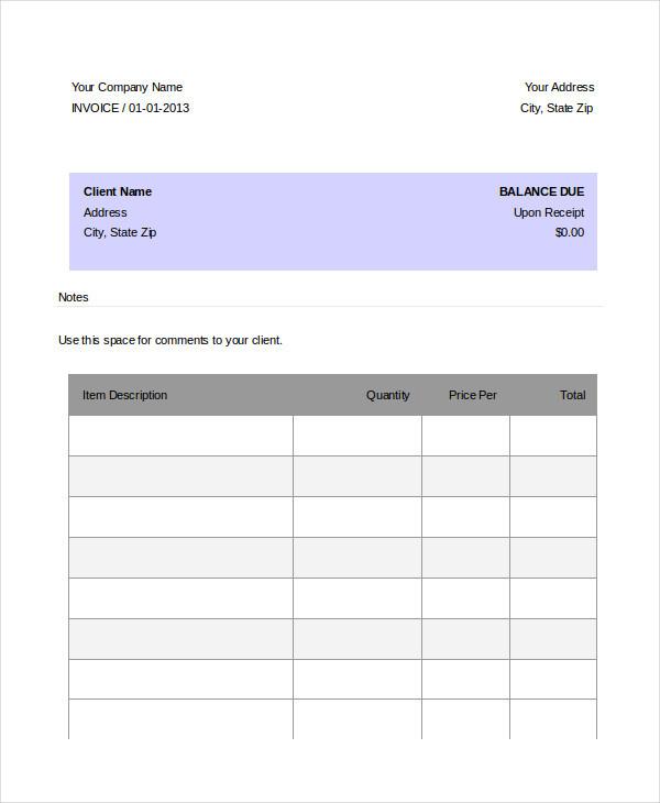 basic invoice2