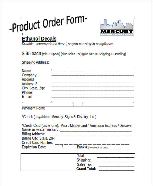 basic product order