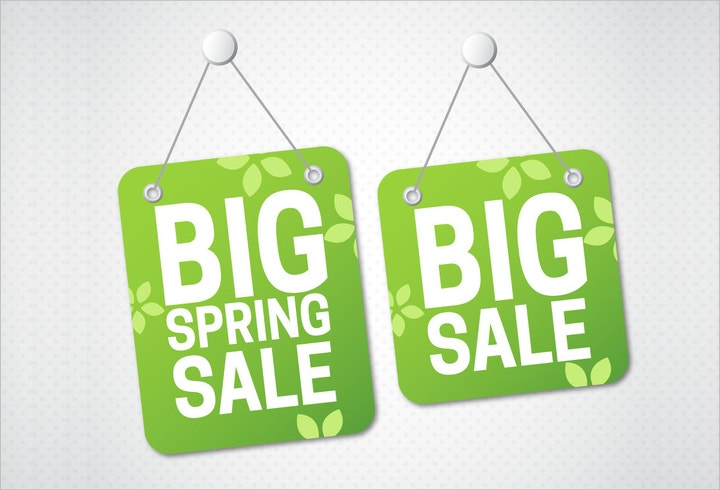 big sale hanging tags