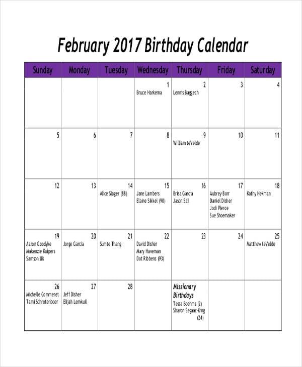 birthday calendar1