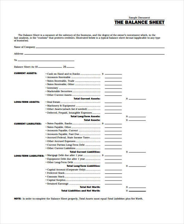 blank balance