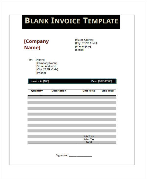 9 Personal Invoice Templates - Sample, Example | Free & Premium